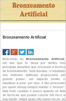 Bronzeamento Artificial