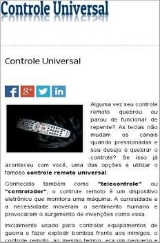 Controle Universal