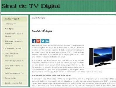 Sinal de TV Digital